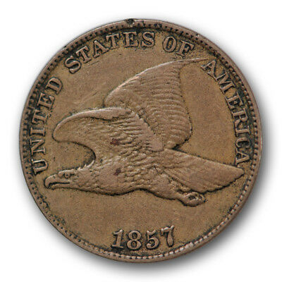 1857 Cent Flying Eagle Extra Fine XF Original Type US Coin #7212