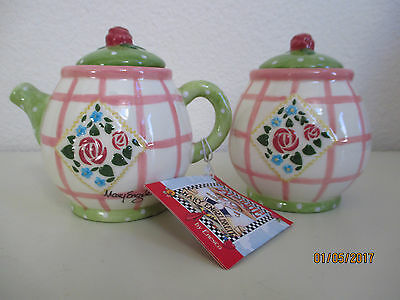 Mary Engelbreit Sugar & Creamer (Rose Patch) Retired Pieces