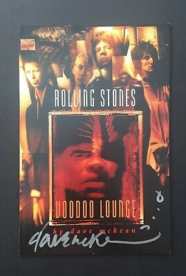 Rolling Stones Voodoo Lounge (1995) Marvel Music Signed By Dave McKean