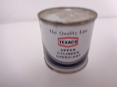 Texaco Oil Company Full Upper Cylinder Lubricant Can 0.100 Liters Quality Line