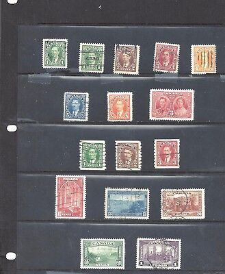 Canada 1930's SELECTION SCOTT 217/230 GEN VF USED (BS10688)