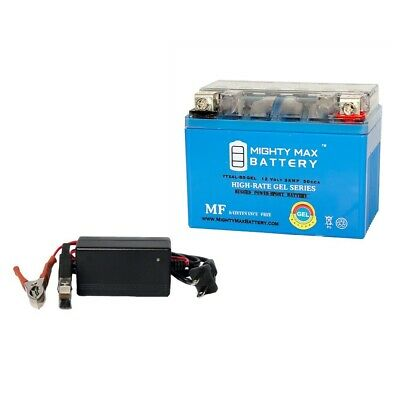 Mighty Max YTX4L-BS Battery for Yamaha TTR125E//LE 12V 1Amp Charger
