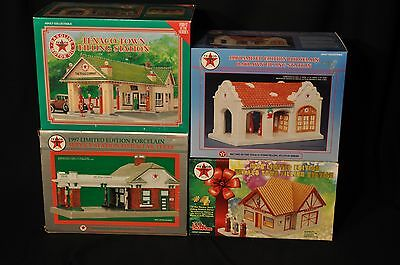 Texaco Town Filling Stations -Christmas- Lot of 4 - 1st to 4th in Series - NEW!