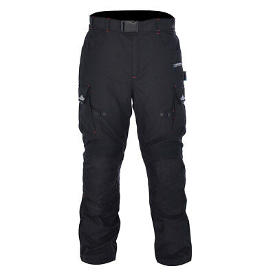 Oxford Continental 2.0 Tech Black Motorcycle Motorbike Long Trouser All Sizes