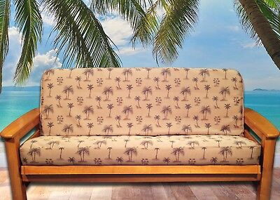 New Tropical Palm Tree Futon Cover Full Size Made In Usa Fl