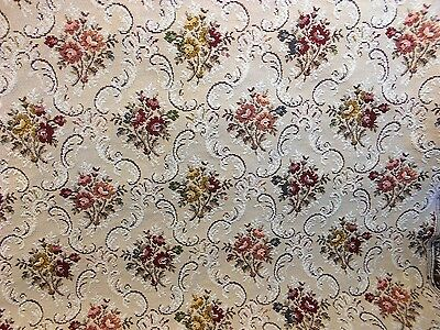 "54""  Wide Vintage   Victorian Heavy High Quality Floral Upholstery Fabric"