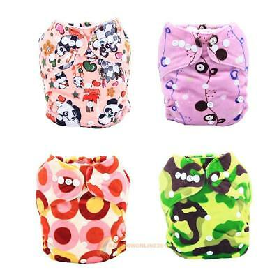 Washable Anti-Leak Baby Diaper Cover Wrap Waterproof Adjustable Baby Cloth Nappy