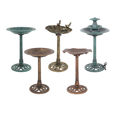 Pedestal Bird Bath Style Antique Bird Bath Feeder Outdoor Garden Decor