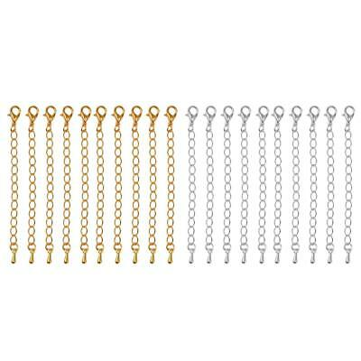 20pcs Extension Link Chain Necklace Extenders Jewelry Making Findings 75mm