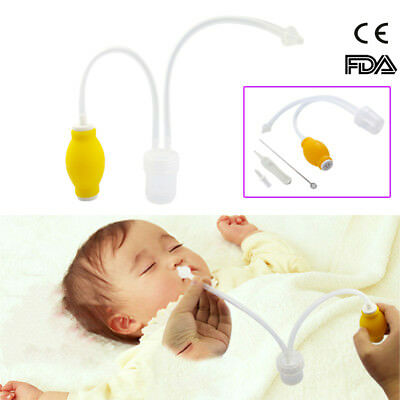Safe Baby Vac Nasal Aspirator Nose Cleaner Suctioning Device For Newborn Infants