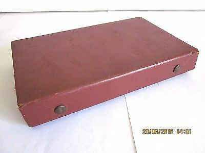 ~VINTAGE DOMINOS/DOMINOES in LEATHER CASE - COMPLETE & USED - 1950's - GC~