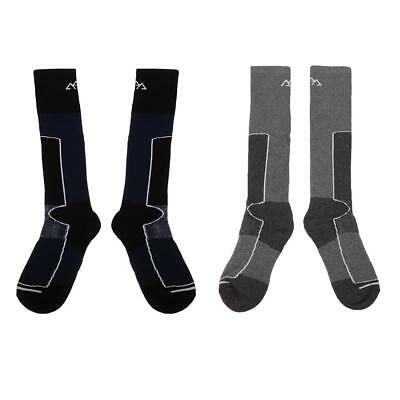 2 Pairs Men's Soft Thermal Long Winter Ski Socks Hiking Walking Snowboarding