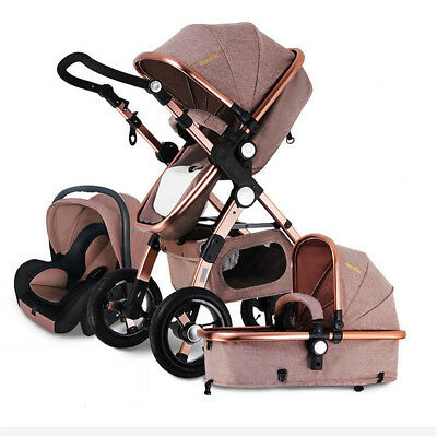 ❉3 in 1 Baby Stroller Pram Foldable Pushchair Bassinet Car Seat Nice Xmas Gift