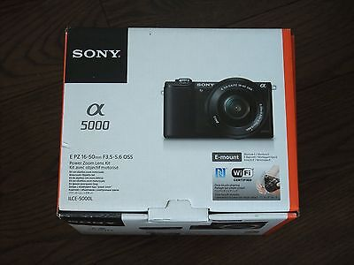 Open Box Sony Alpha a5000 Black 20.1MP Mirrorless Camera with 16-50mm OSS Lens