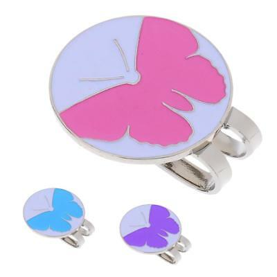 3Pcs Cute Butterfly Golf Ball Marker with Magnetic Hat Clip Golfer Gift