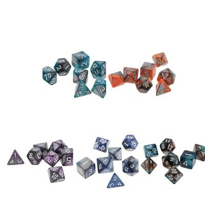 7PCS Polyhedral Dice for Dungeons and Dragons DND RPG D20 D12 D10 D8 D6 D4 Games