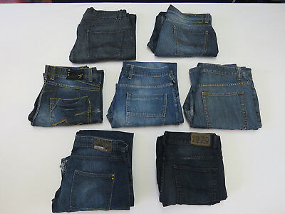 04 - BULK LOT OF 7 PAIRS Denim JEANS DKNY JUST JEANS ETC MENS ALL SIZE 34