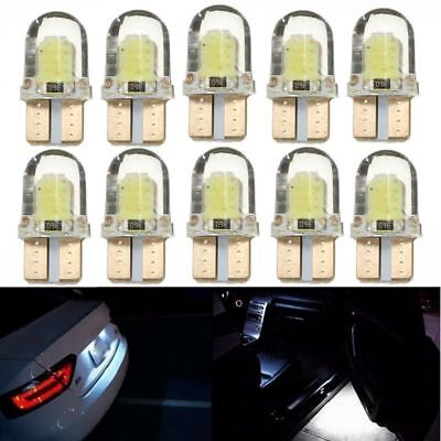 10pc LED T10 194 168 W5W COB 8SMD Silica CANBUS Bright White License Light Bulbs