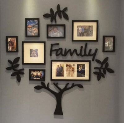 Family Tree Wall Collage Frame Set 13 Pc Photo Picture Art