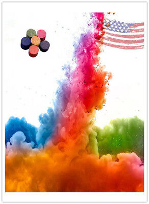 Colorful Smoke Cake Smoke Effect Show Round Bomb Photography Aid Toy Divine
