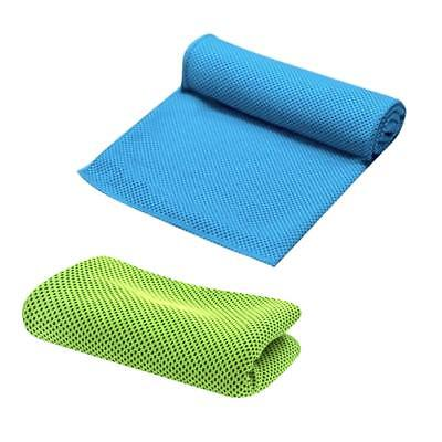 2 Pieces Instant Cooling Gym Towels 86*30cm Sweat Absorb for Fitness Hiking