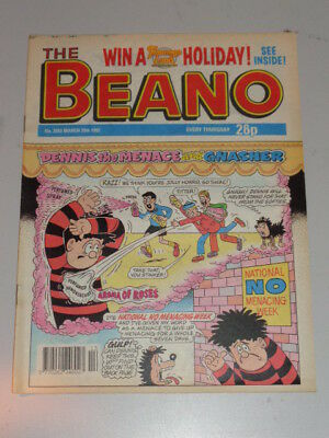 Beano #2593 28Th March 1992 British Weekly Dennis The Menace