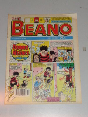Beano #2612 8Th August 1992 British Weekly Dennis The Menace