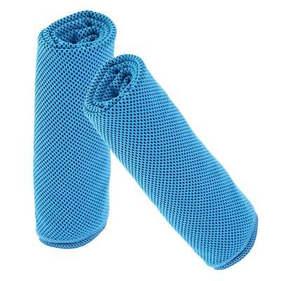 2 Pcs Ice Cold Portable Golf Towel Cooling Gym Towels Camping Hiking - Blue