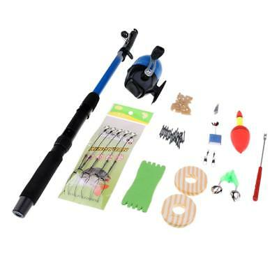 Spinning Telescopic Fishing Rod and Reel Combo Kit Travel Fishing Tackle Set