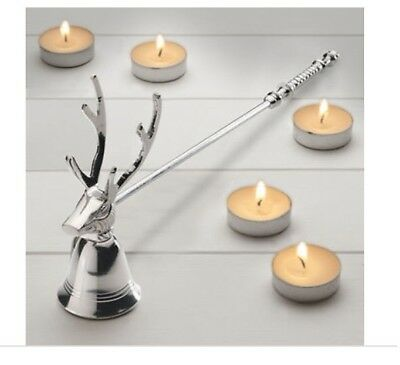Vintage country style silver Stag Candle Snuffer gift for her