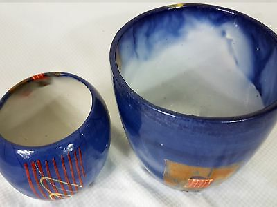 Handmade Hand Painted Ceramic Flower Pots SC-0013