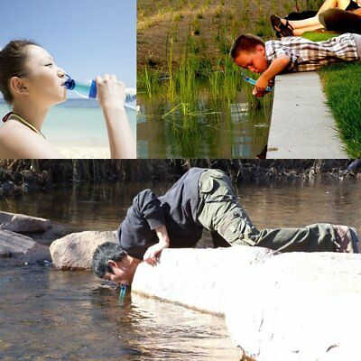 Outdoor Water Filter Purifier Hiking Hunting Mountaineering Sport Emergency New