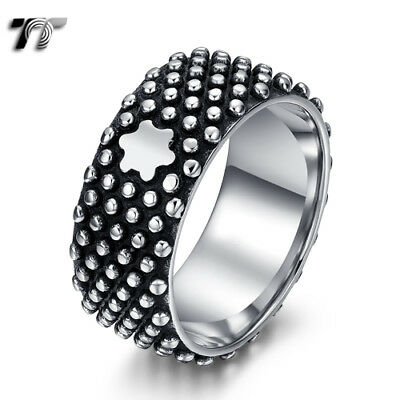 High Quality TT 316L Stainless Steel Stud Band Ring Size 7-12 (RZ180) NEW