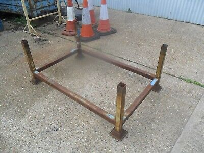 "Useful Metal 4 Post Stackable Stillage 51 Inch X 33 Inch X 22"" High"
