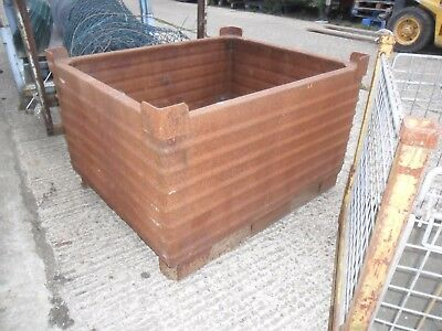 "Good Metal Solid Box Stackable Stillage 47 Inch X 39 Inch X 30"" High"