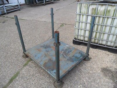 "Heavy Metal 4 Post Stackable Stillage Steel Base  48 Inch X 40 Inch X 38"" High"