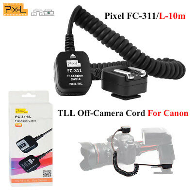 Pixel Flash FC-311/L-10m TLL Off-Camera Cord Speedlite Hot Shoe For Canon Camera