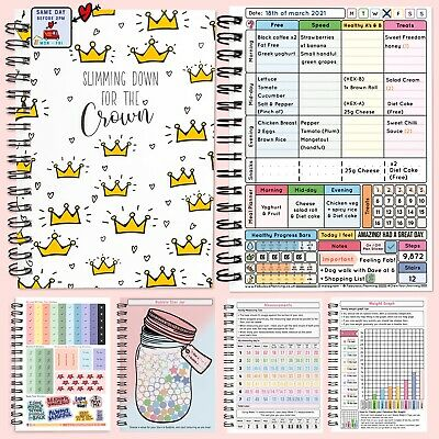 Food Diary Weight Loss Journal Sw Compatible Speed Easy13 Weeks Countdown 38