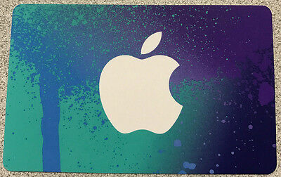 Apple iTunes MINT GIFT CARD FROM CANADA BILINGUAL NO VALUE RECHARGEABLE !