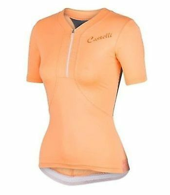 CASTELLI BELLISSIMA TOP Womens Small Pink Orange Cycling New ... 9524e81fd