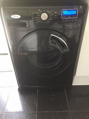 whirlpool washing machine black 6th sense picclick uk. Black Bedroom Furniture Sets. Home Design Ideas