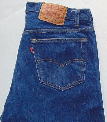 VTG 80s Levi's 501 Button Fly Jeans Blue Size 36x36 EUC Made in USA 100% Cotton