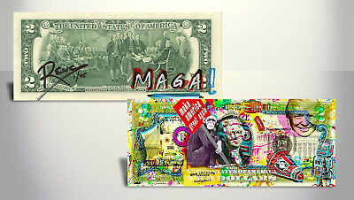 "Rency Art $2 Bill Wise Monkey ""Make America Great Again"" Limited Edition of 45"