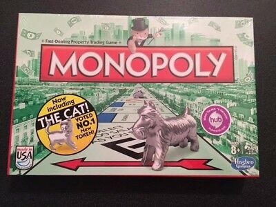 NEW Hasbro MONOPOLY Board Game with The Popular CAT Token Sealed 2013