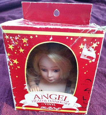 Angel Lady Doll Head & Hands Sets Fibre-Craft 1991 Arms Box 3138-01