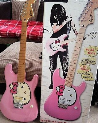 fender squire hello kitty pink electric guitar picclick uk. Black Bedroom Furniture Sets. Home Design Ideas