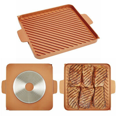 Outdoor Copper Chef Grill And Bake Mats Bbq Pad Use