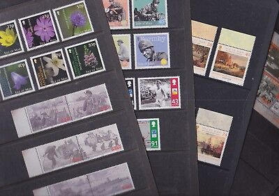 Isle of Man 2004 Mint MNH 5 Full Sets 1 MS Flowers D-Day Landings Formby Sport