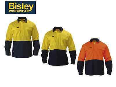 HI VIS UNTAPED CLOSED FRONT 2 TONE L/S BSC6267 - Extra Large - Orange/Navy
