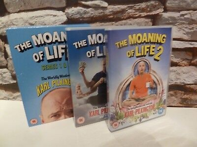 The Moaning Of Life Series 1 / 2 Dvd Set (Karl Pilkington) Fast/free Post